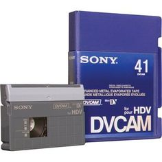 PDVM-41N/3 41 Minute DVCAM Mini Cassette by Sony. $17.40. Targeted specifically toward everyday HD video applications and ideal for dailies, stringer projects or postproduction, the DVCAM for HDV tape offers extremely low error and drop-out rates, high durability and superb image quality. Offering the same tolerance and dependability of DVCAM tape, the DVCAM for HDV tape is the reliable media option for HD tape-based productions - at the same price point as DVCAM, giving shoote...
