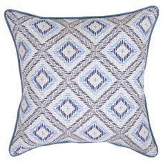 18 Throw Pillow - Argyle Blue - Threshold