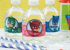 Luvibee Kids Company: PJ Masks Water Bottle Labels - Free Printable