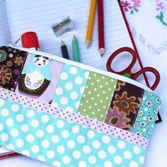 Make-up bag or pencil case - 'Matroyska' - patchwork - FREE UK PP £6.95
