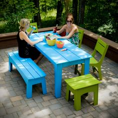 Alfresco Outdoor Dining Set With Table, Chairs And Bench.