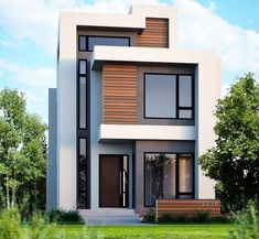 awesome The Number One Question You Must Ask for Exterior Design Ideas for Modern Dream Houses 2019 Our house designs are proven and tested to abide by regula. Townhouse Designs, Duplex House Design, House Front Design, Small House Design, Modern House Facades, Modern House Plans, Modern Residential Architecture, Modern Villa Design, Casas Containers