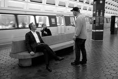 """Kevin Spacey, David Fincher y Kate Mara durante el rodaje de """"House of cards"""" (2013)."""