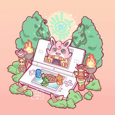 Tagged with art, pokemon, pokemon fan art, timeline, pokemon go; Evolution of Pokemon playing Pokemon Fan Art, Pokemon Games, Pokemon Go, Pokemon Fusion, Nintendo Ds Pokemon, Pokemon Stuff, Griffonnages Kawaii, Photo Pokémon, Totoro