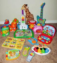 Huge Lot Baby Toddler Developmental Toys Fisher Price Leap Frog Vtech +