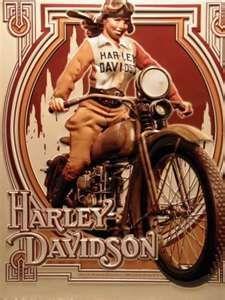 Affiche de harley vintage