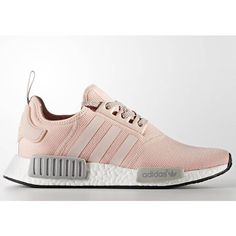 Adidas Nmd Runner r1 W by3058 Vapour pink/running white/aluminum... ($250) ❤ liked on Polyvore featuring shoes, athletic shoes, silver, sneakers & athletic shoes, women's shoes, clear shoes, rose shoes, pink white shoes, shiny shoes and white shoes