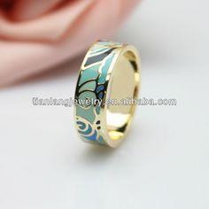 Free Shipping Euramerican manufacture new design round dots light green fashion enamel Rings