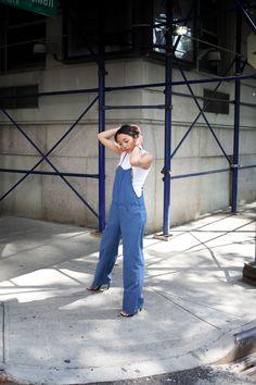 Striped Overalls Blank Denim Serena Goh - love this look
