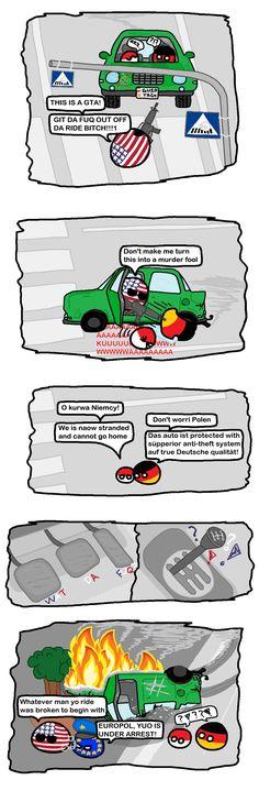 Country Balls polandball America is disabled : polandball – WorldBall Short Jokes Funny, Funny Tweets, Rage Comics, Fun Comics, Some Jokes, Everything Funny, Short Comics, How To Make Comics, Country Art