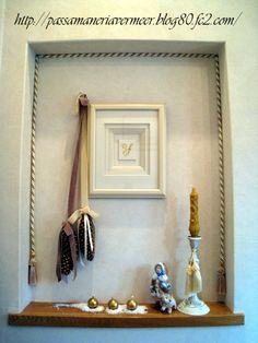松笠オーナメント ***「Chez Mimosa シェ ミモザ」   ~Tassel&Fringe&Soft furnishingのある暮らし  ~   フランスやイタリアのタッセル・フリンジ・  ファブリック・小家具などのソフトファニッシングで  、暮らしを彩りましょう     http://passamaneriavermeer.blog80.fc2.com/