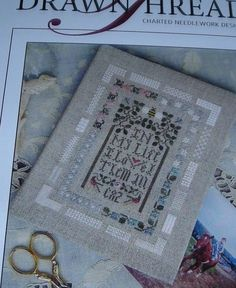 """The Drawn Thread Cross/Specialty Stitch Chart """"In My Life"""" Sampler Design #TheDrawnThread #Sampler"""