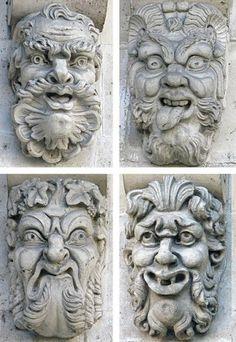 Pont-Neuf - Paris 1er ... Les mascarons du Pont-Neuf