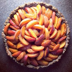 Healthy Green Kitchen Apricot and Lavender Tart
