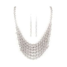 Silver Chainmail Necklace and Earring Set * Want to know more, click on the image.(This is an Amazon affiliate link)