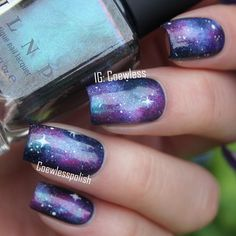 """Oh my god! I should do galaxy nails more often! "" Photo taken by @coewless on Instagram, pinned via the InstaPin iOS App! http://www.instapinapp.com (06/03/2015)"