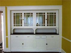 Colonial Revival built in hutch | kitchen cabinets ... etc ...