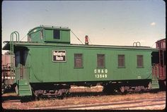 An old Burlington Route caboose....