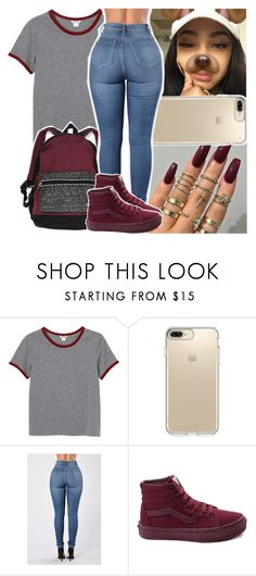 """lil kodak they dont like to see you winninnn"" by daeethakidd ❤ liked on Polyvore featuring Monki, Speck, Victoria's Secret and Vans"