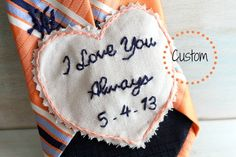 Groom Gift. Groom Gift from Bride. Embroidered Tie Patch. Wedding Embroidery. Personalized. Custom. Wedding. Mens Ties. on Etsy, $35.00
