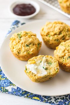 Cornbread Zucchini Muffins are incredibly moist and tender. The small batch recipe makes just 6 muffins that are perfect for a quick breakfast, snack or dunking in a bowl of vegetarian chili. Zucchini Cornbread, Zucchini Muffin Recipes, Zuchinni Recipes, Bake Zucchini, Zucchini Muffins, Healthy Muffins, Fruit Recipes, Veggie Recipes, Veggie Dishes