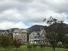 View of beautiful Keswick, UK. Quaint market town in the Lake District.