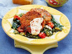 Unser beliebtes Rezept für Quinoa-Mangold-Bratlinge mit Gemüse und mehr als 55.000 weitere kostenlose Rezepte auf LECKER.de.