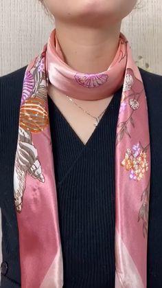Ways To Tie Scarves, Ways To Wear A Scarf, How To Wear Scarves, Scarf Knots, Diy Scarf, Tying A Scarf, Scarf Ideas, Scarf Wearing Styles, Scarf Styles