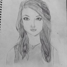 By me Kristin @Asuna Yuuki No Repins. Haha I don't really know who I drew.. oh well I Wanted to show it to you guys!
