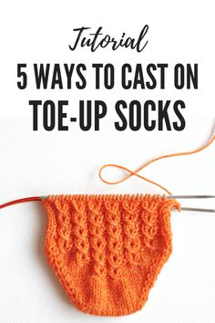 Toes First! 5 Ways to Cast on Toe-up Socks :: talvi knits. Learn how . Toes First! 5 Ways to Cast on Toe-up Socks :: talvi knits. Learn how to knit 5 different ways to cast on sock. Knitted Socks Free Pattern, Crochet Socks, Knitting Patterns Free, Free Knitting, Knitting Socks, Baby Knitting, Knit Socks, Start Knitting, Sweater Patterns