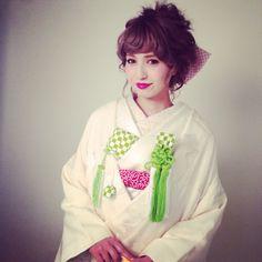 和装ヘア Dress Hairstyles, Bride Hairstyles, Pretty Hairstyles, Wedding Images, Wedding Styles, Japanese Wedding Kimono, Kimono Japan, Hair Arrange, Asian Love