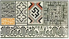 Square and other geometric Kufic, from the Topkapi Scroll (Iran, Safavid dynasty, 15th c.)