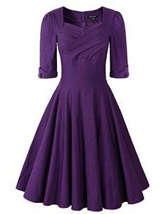 50s Vintage Half Sleeve Rockabilly Swing Dress (US12, Pur... http://www.amazon.com/dp/B019EUJV7Y/ref=cm_sw_r_pi_dp_Jdmhxb0EY6J7R