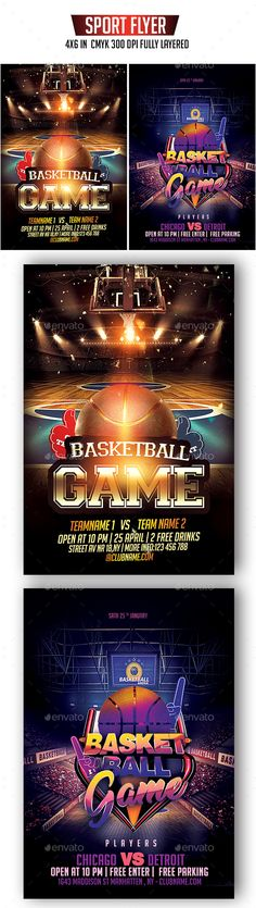 b221a120cbf2 Buy Basketball Flyer Bundle by DSGraphicDesign on GraphicRiver. with bleed