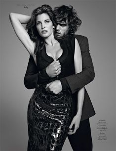 Stephanie Seymour and Marlon Teixeira styled by Mel Ottenberg for Vogue Hommes International, Fall/Winter 2012