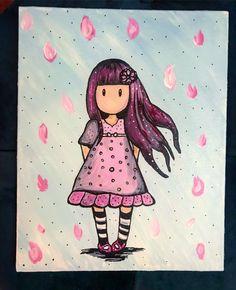 London Painting, Santoro London, Bunny, Dolls, Canvas, Drawings, Anime, Fictional Characters, Vintage