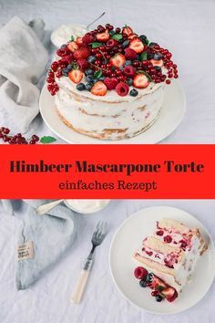 super easy recipe for a fruity raspberry mascarpone cake. With and without Thermomix. The post Raspberry Mascarpone cake & wonderfully simple appeared first on Trendy. Easy Vanilla Cake Recipe, Easy Cake Recipes, Baking Recipes, Beef Recipes, Chicken Recipes, Healthy Recipes, Cupcake Recipes, Healthy Drinks, Delicious Recipes