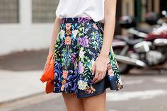 stunning floral skirt