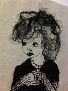 embroidered portraits - Google Search