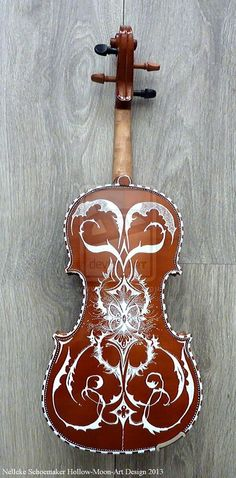 Handpainted Violin Fantasy Design FOR SALE!!!! by ~Hollow-Moon-Art on deviantART