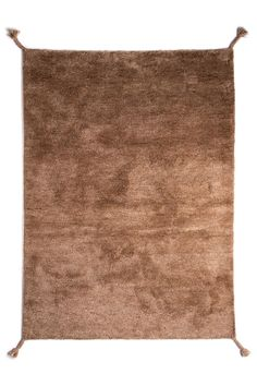 Woodnotes' hand knotted wool carpet Uni col. camel