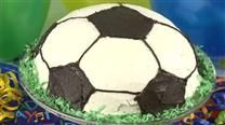 Soccer Ball Cake...great video tutorial for creating a soccer ball cake all on your own using a medal pan.  Good luck!