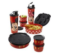 Tupperware | Mickey or Minnie Magical Snack Set  (Boy #2 would LOVE the Mickey set)