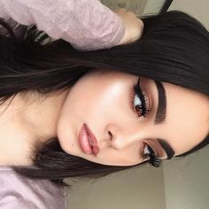 "178.6k Likes, 306 Comments - Anastasia Beverly Hills (@anastasiabeverlyhills) on Instagram: ""Glowing ☀️ @cakefacehaze BROWS: Brow Kit in Dark Brown GLOW: Forever Lit #nicoleglow #glowkit"""