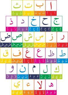 حروف Arabic Alphabet Letters, Arabic Alphabet For Kids, Learn Quran, Learn Islam, Arabic Handwriting, Arabic Lessons, Islam For Kids, Preschool Learning Activities, Arabic Language