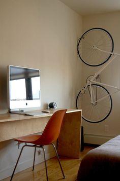 Wall-mounted bike .... turn it red??