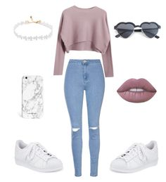 """Chill day"" by lauren-ashleigh-stra ❤ liked on Polyvore featuring Glamorous, Chicnova Fashion, adidas and Lime Crime"