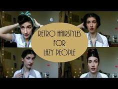(11) 4 Simple Retro Hairstyles for Lazy People - YouTube