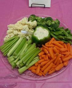 Veggie Tray For Bridal Shower