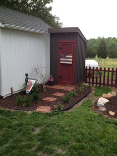 Patriotic Outhouse........aka......Prim Tool Shed